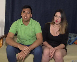 Española gordita se planta a follar ante las cámaras con su novio